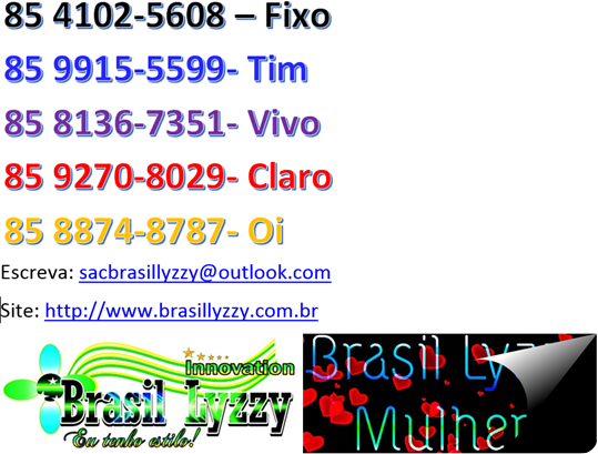 Telefones Brasil Lyzzy para tudo